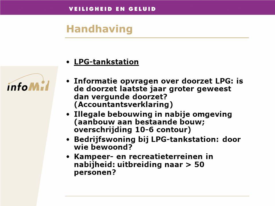 Handhaving LPG-tankstation