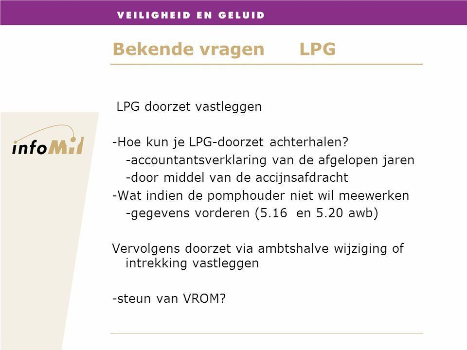 Bekende vragen LPG LPG doorzet vastleggen