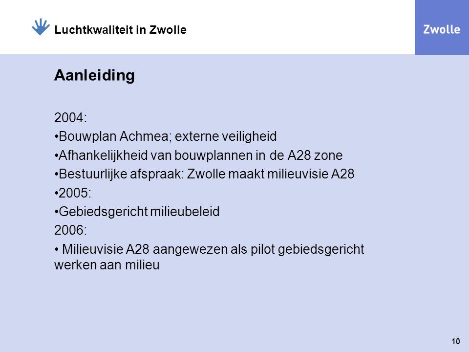 Aanleiding 2004: Bouwplan Achmea; externe veiligheid