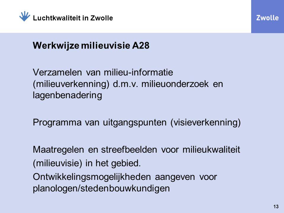 Werkwijze milieuvisie A28