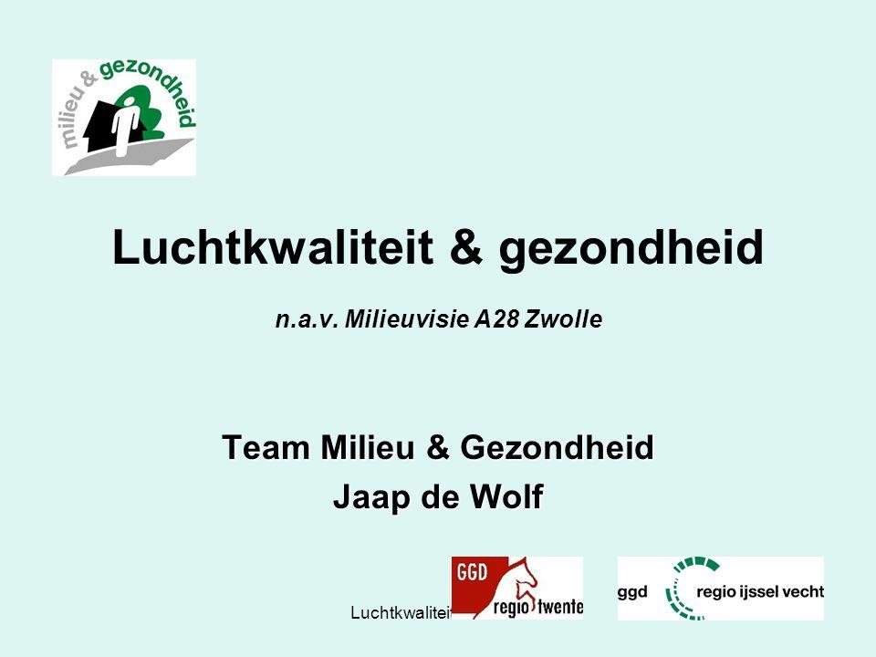 Luchtkwaliteit & gezondheid n.a.v. Milieuvisie A28 Zwolle