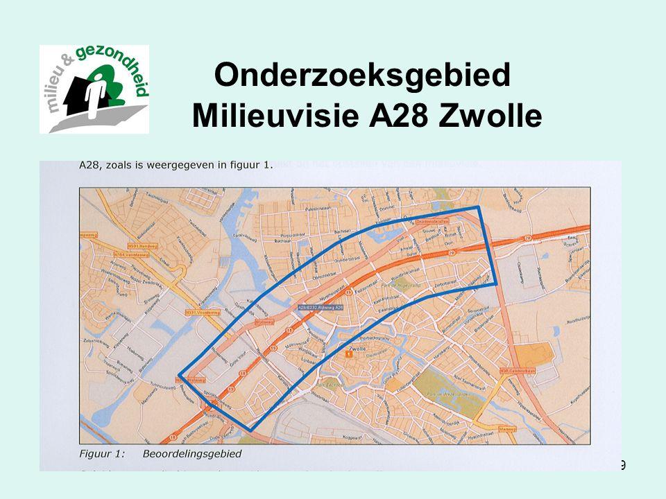 Onderzoeksgebied Milieuvisie A28 Zwolle