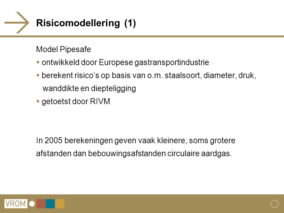 Risicomodellering (1) Model Pipesafe