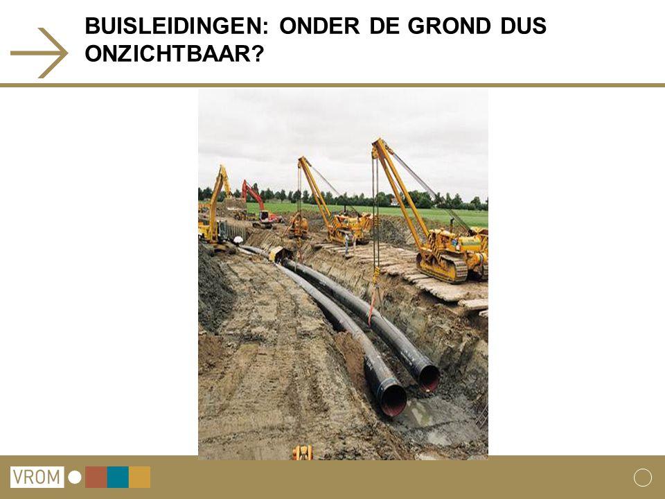 BUISLEIDINGEN: ONDER DE GROND DUS ONZICHTBAAR