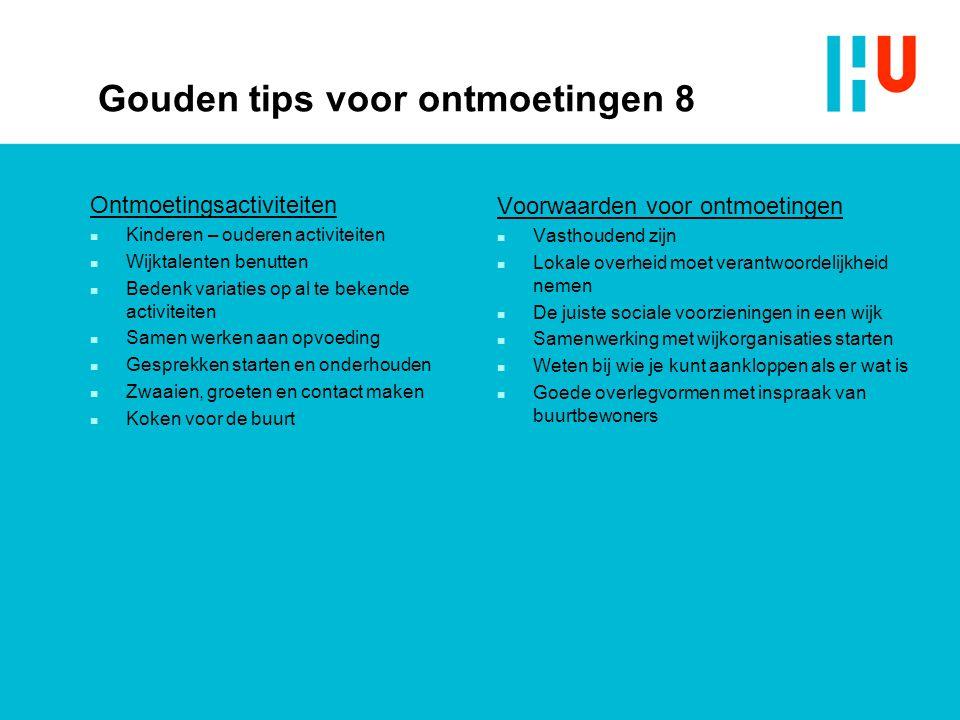 Gouden tips voor ontmoetingen 8