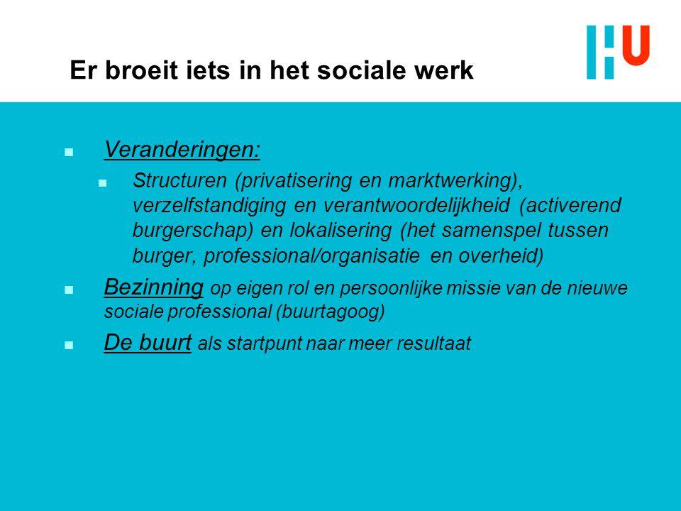 Er broeit iets in het sociale werk