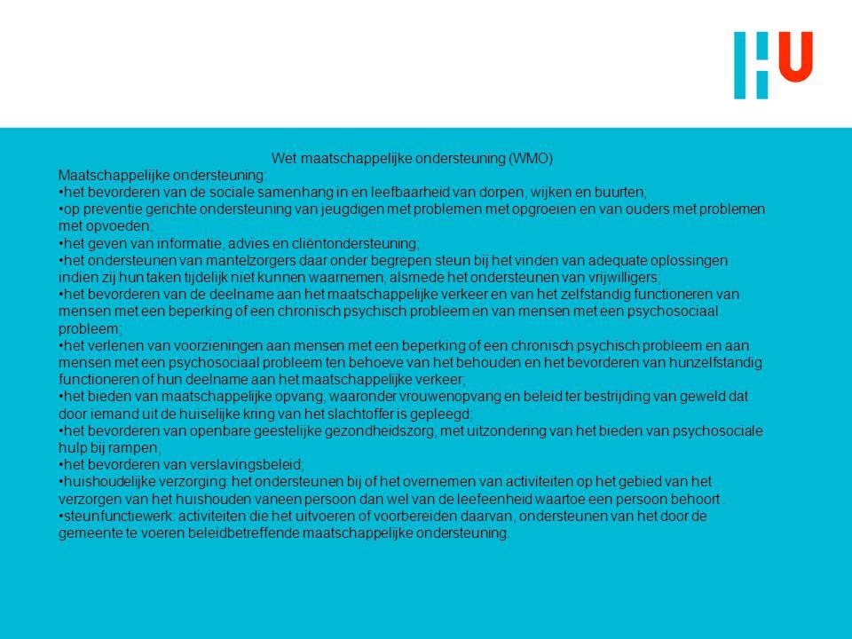 Wet maatschappelijke ondersteuning (WMO)