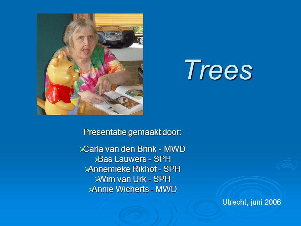 Trees Presentatie gemaakt door: Carla van den Brink - MWD