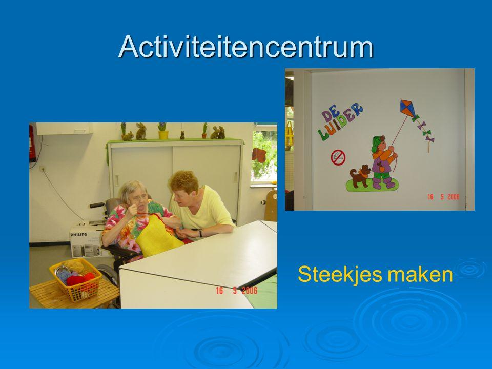 Activiteitencentrum Steekjes maken