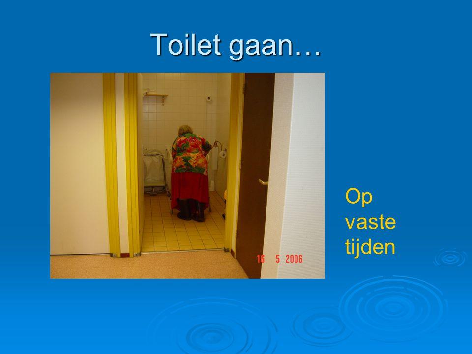 Toilet gaan… Op vaste tijden