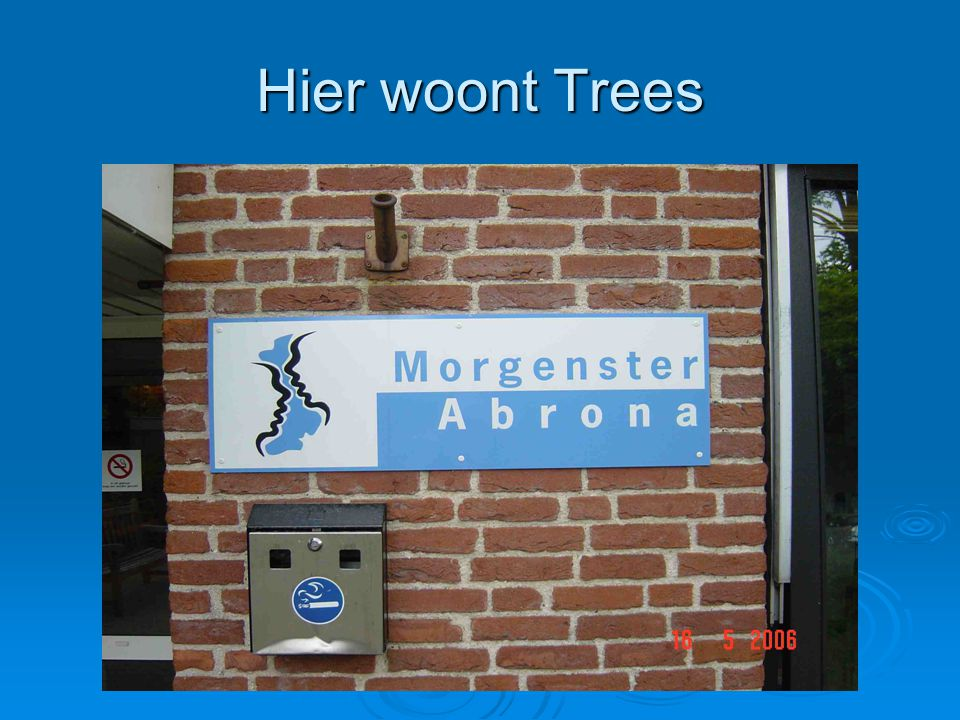 Hier woont Trees