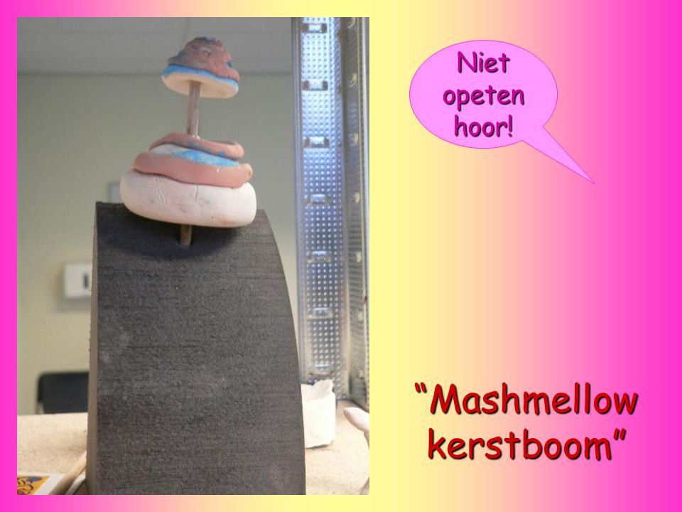 Mashmellow kerstboom