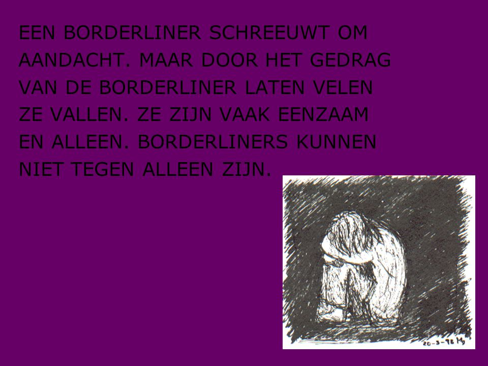 EEN BORDERLINER SCHREEUWT OM