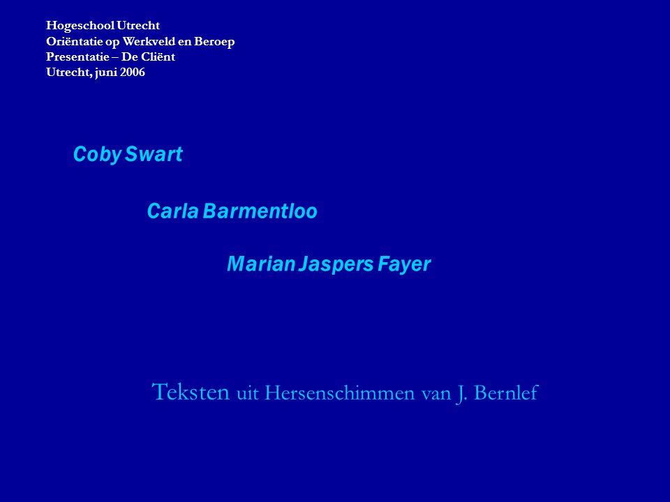 Teksten uit Hersenschimmen van J. Bernlef