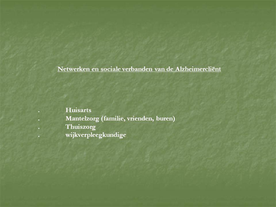 Netwerken en sociale verbanden van de Alzheimercliënt