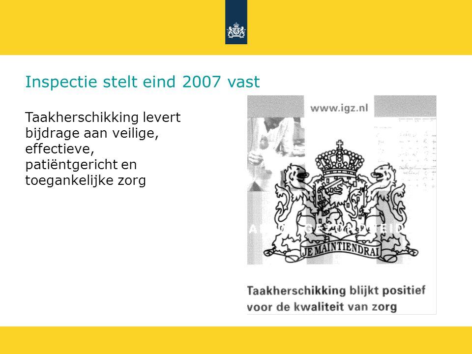 Inspectie stelt eind 2007 vast