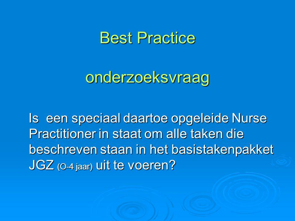 Best Practice onderzoeksvraag