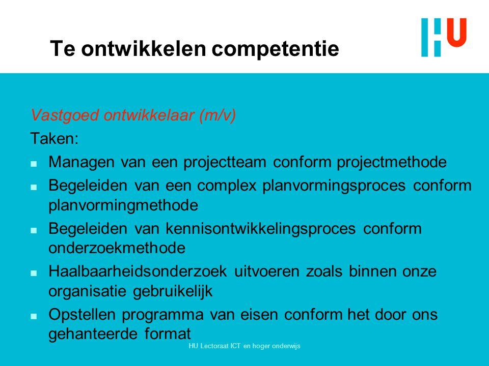 Te ontwikkelen competentie