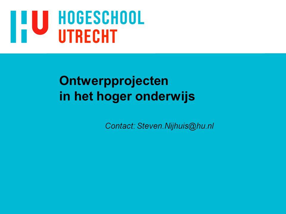Ontwerpprojecten in het hoger onderwijs