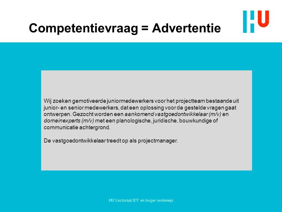 Competentievraag = Advertentie