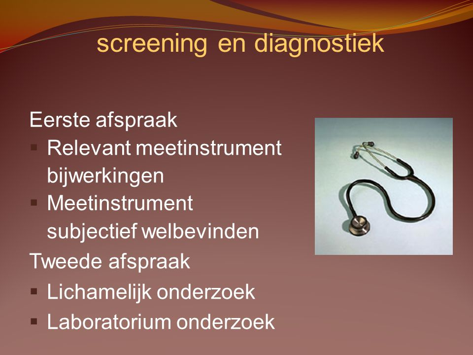 screening en diagnostiek