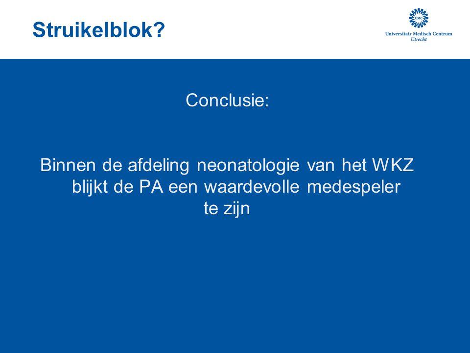 Struikelblok Conclusie: