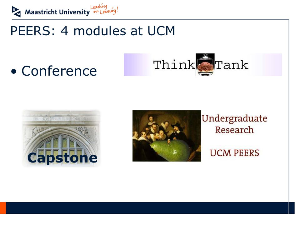 Conference Capstone PEERS: 4 modules at UCM