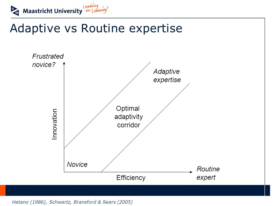Adaptive vs Routine expertise