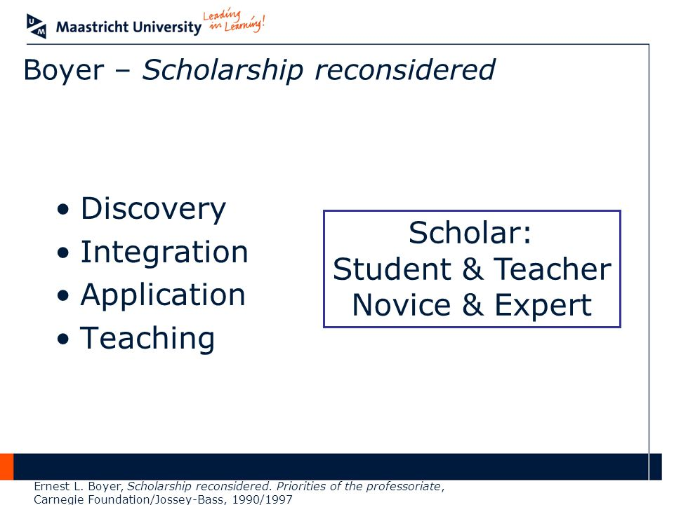 Boyer – Scholarship reconsidered