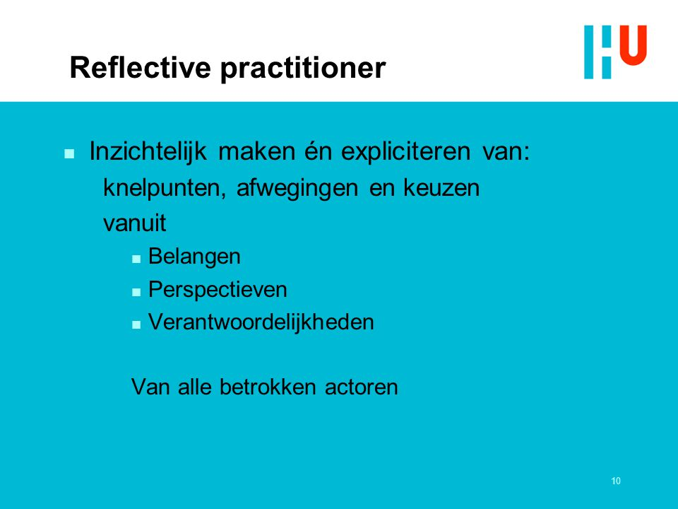 Reflective practitioner