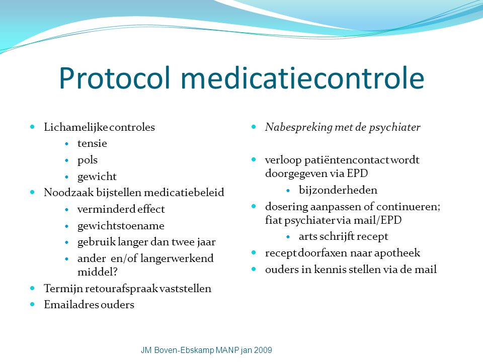 Protocol medicatiecontrole