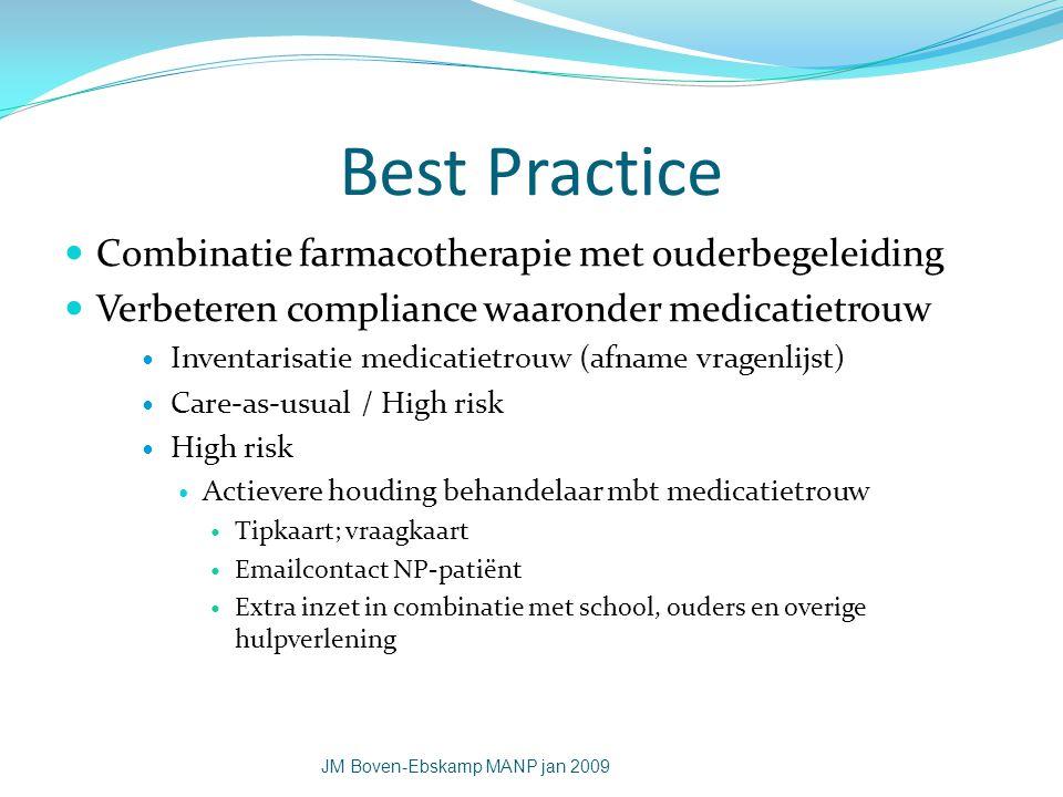 Best Practice Combinatie farmacotherapie met ouderbegeleiding