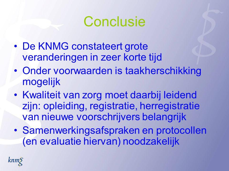 Conclusie De KNMG constateert grote veranderingen in zeer korte tijd
