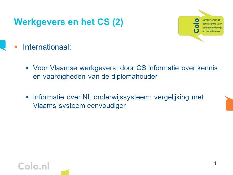 Werkgevers en het CS (2) Internationaal: