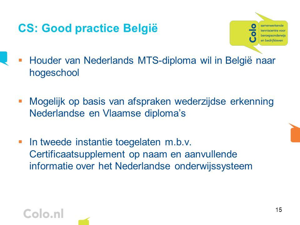 CS: Good practice België