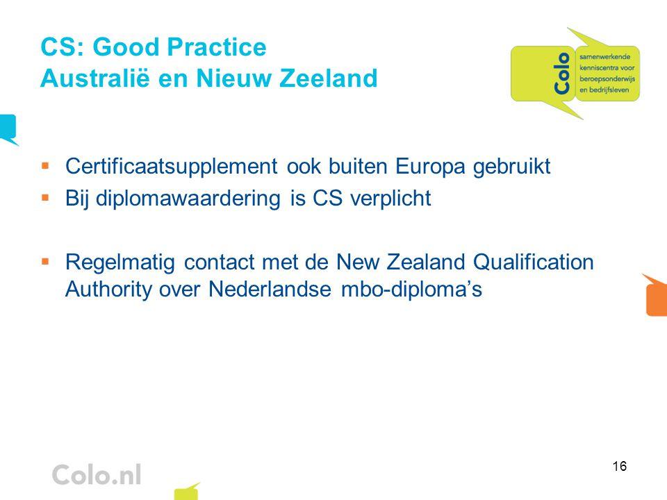 CS: Good Practice Australië en Nieuw Zeeland