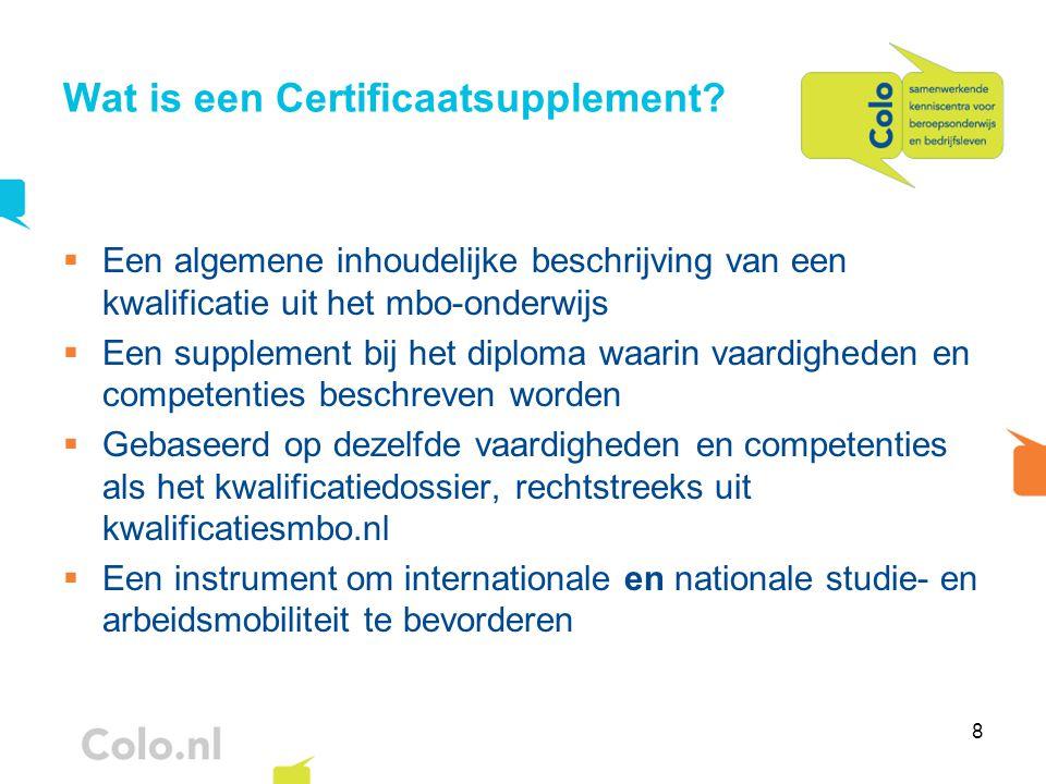 Wat is een Certificaatsupplement