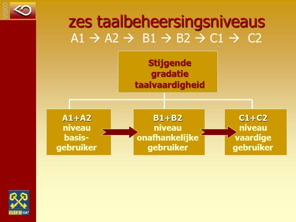 Stijgende gradatie taalvaardigheid