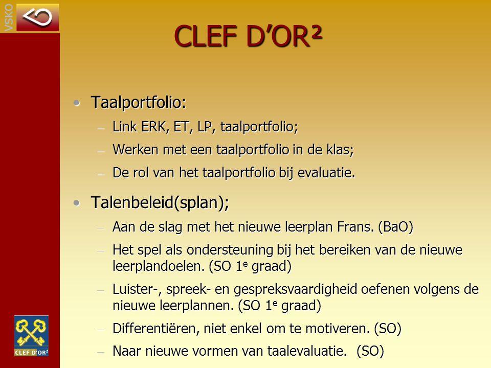 CLEF D'OR² Taalportfolio: Talenbeleid(splan);