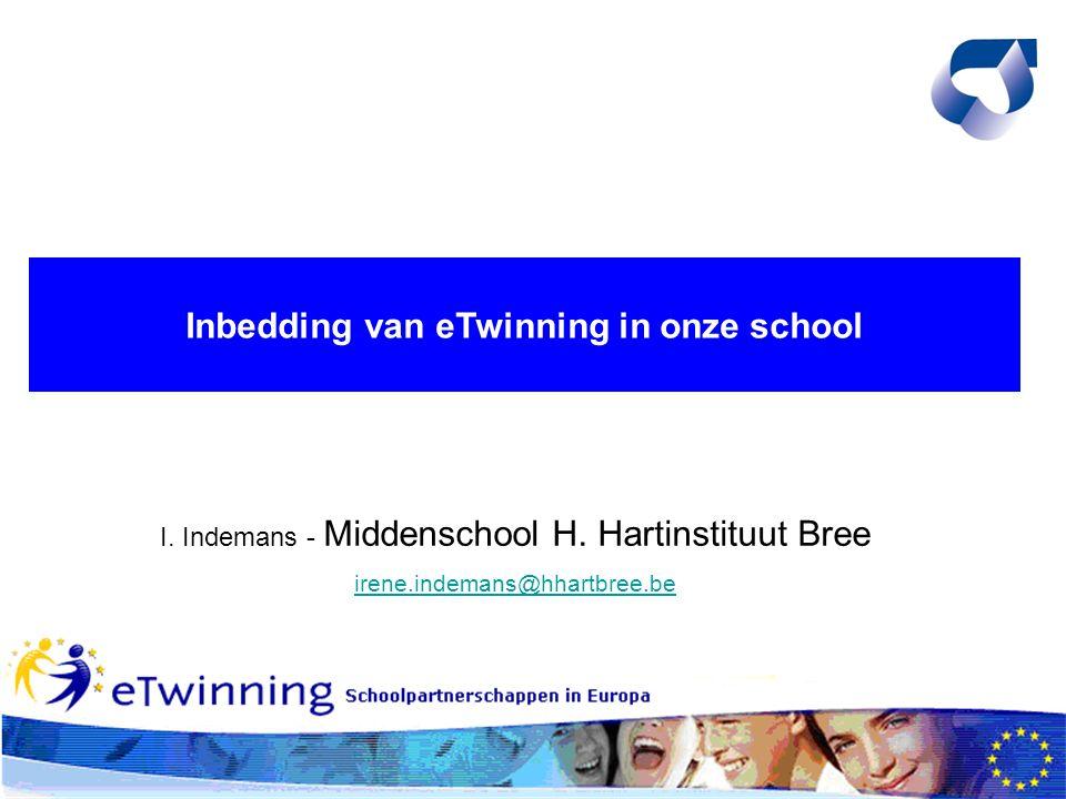 Inbedding van eTwinning in onze school