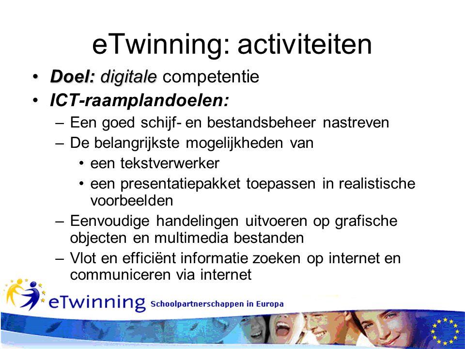 eTwinning: activiteiten