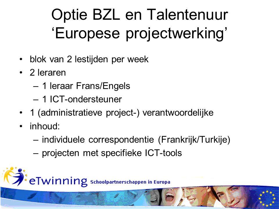 Optie BZL en Talentenuur 'Europese projectwerking'
