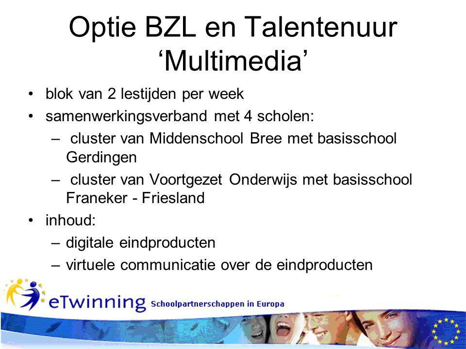 Optie BZL en Talentenuur 'Multimedia'