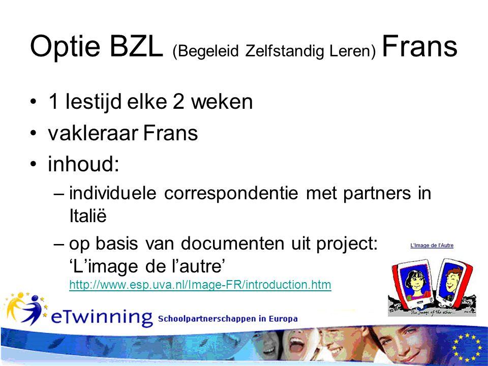 Optie BZL (Begeleid Zelfstandig Leren) Frans