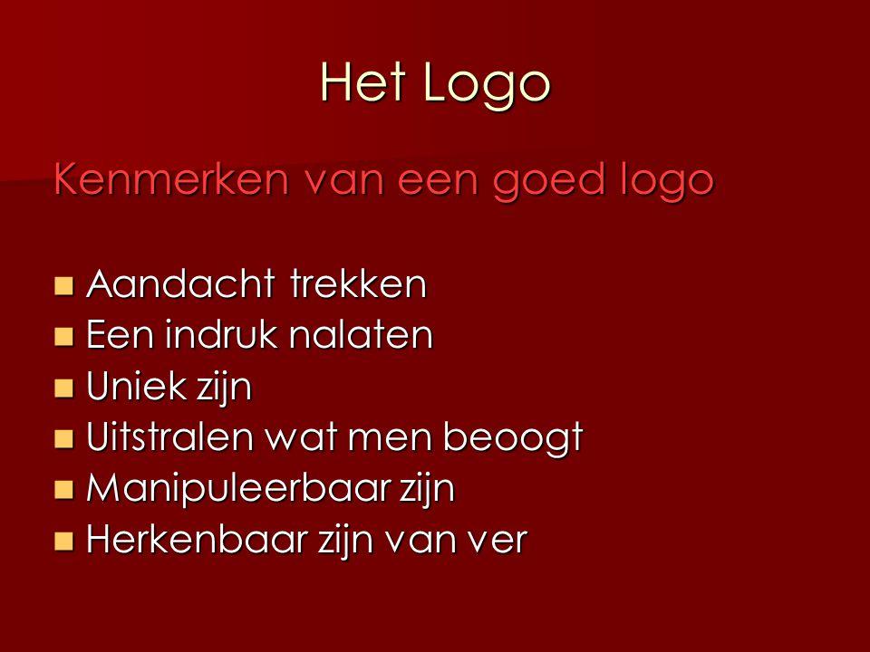 Het Logo Kenmerken van een goed logo Aandacht trekken
