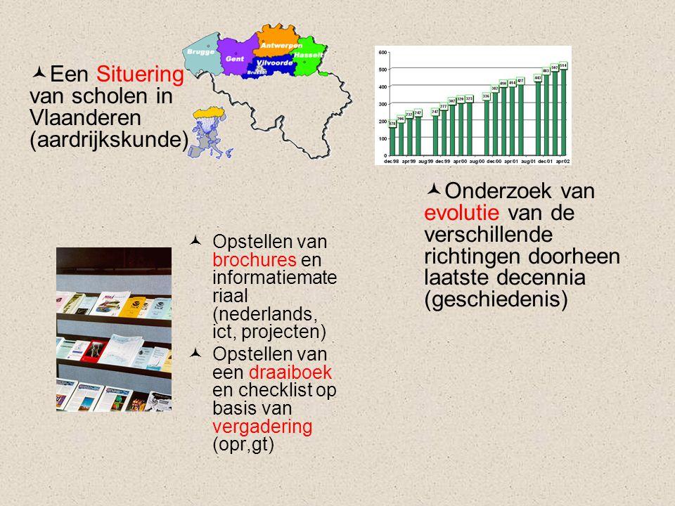 Een Situering van scholen in Vlaanderen (aardrijkskunde)