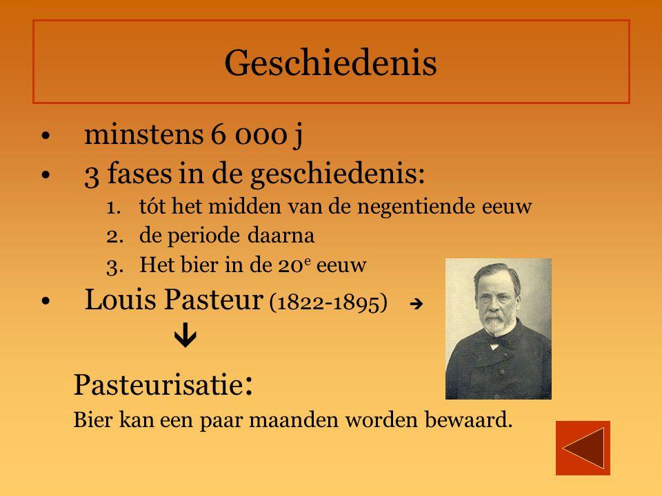 Geschiedenis minstens 6 000 j 3 fases in de geschiedenis: