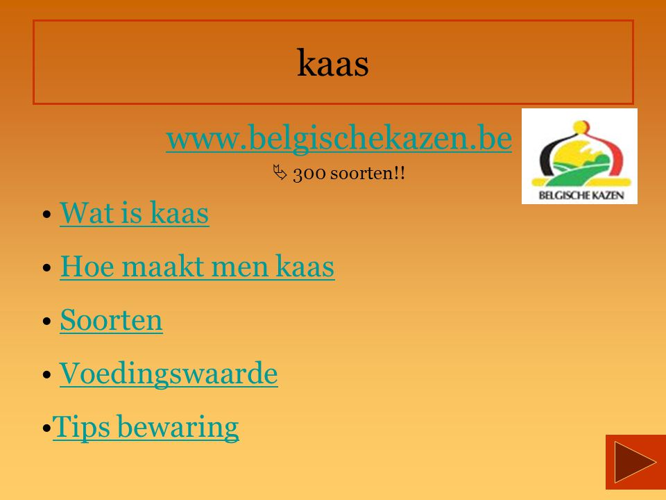kaas www.belgischekazen.be Wat is kaas Hoe maakt men kaas Soorten