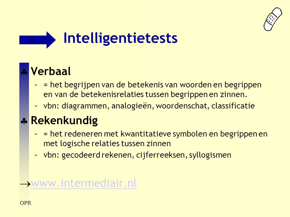 Intelligentietests Verbaal Rekenkundig www.intermediair.nl