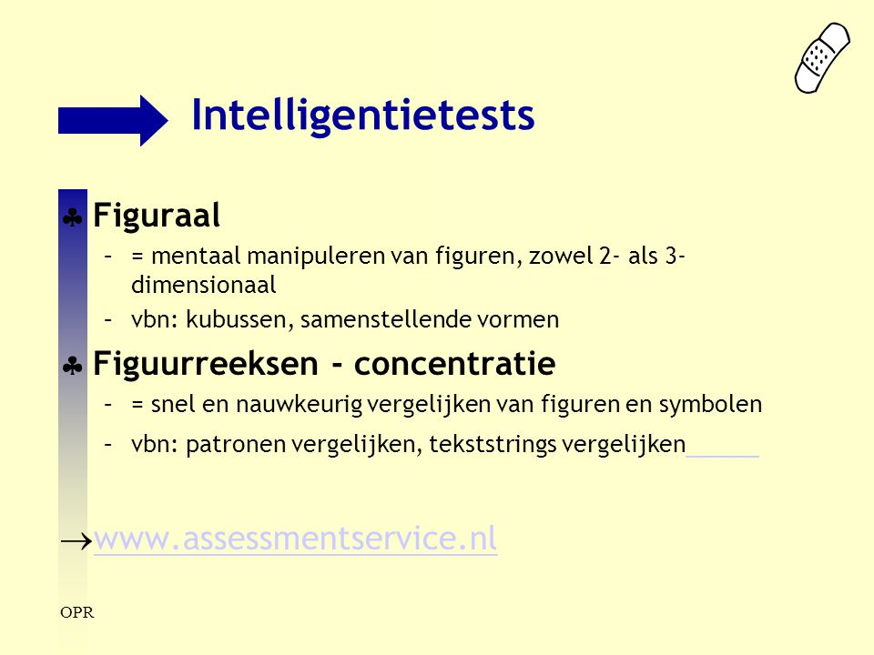 Intelligentietests Figuraal Figuurreeksen - concentratie